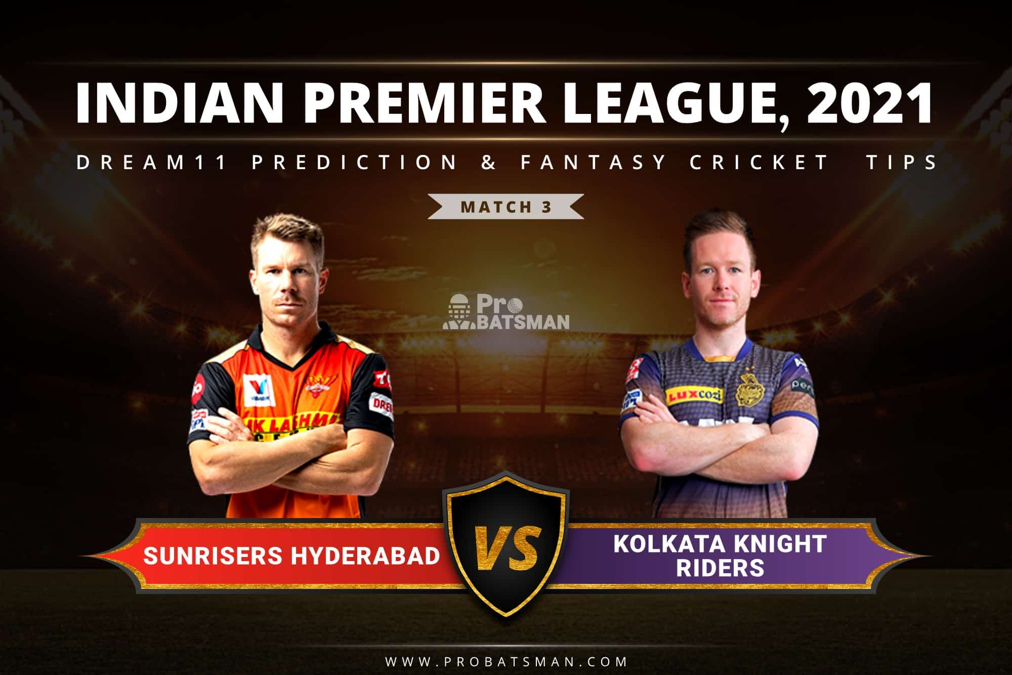 SRH vs KKR Dream11 Prediction: Fantasy Cricket Tips, Playing XI, Pitch Report, Stats, Match & Injury Updates, Indian Premier League (IPL) 2021, Match 3