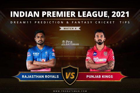 IPL 2021, Match 1 - RR vs PBKS Dream11 Prediction: Fantasy Cricket Tips, Playing XI, Pitch Report, Stats, Match & Injury Updates