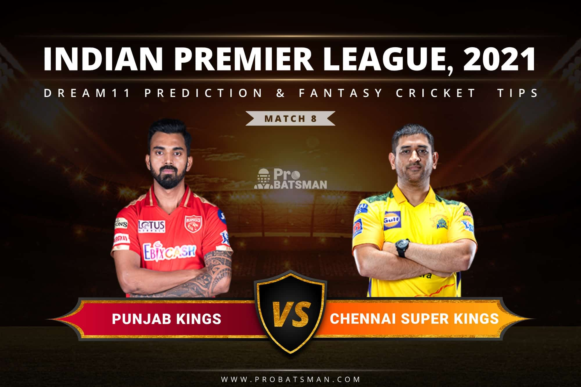 PBKS vs CSK Dream11 Prediction: Fantasy Cricket Tips, Playing XI, Pitch Report, Stats & Injury Updates of Match 8, IPL 2021