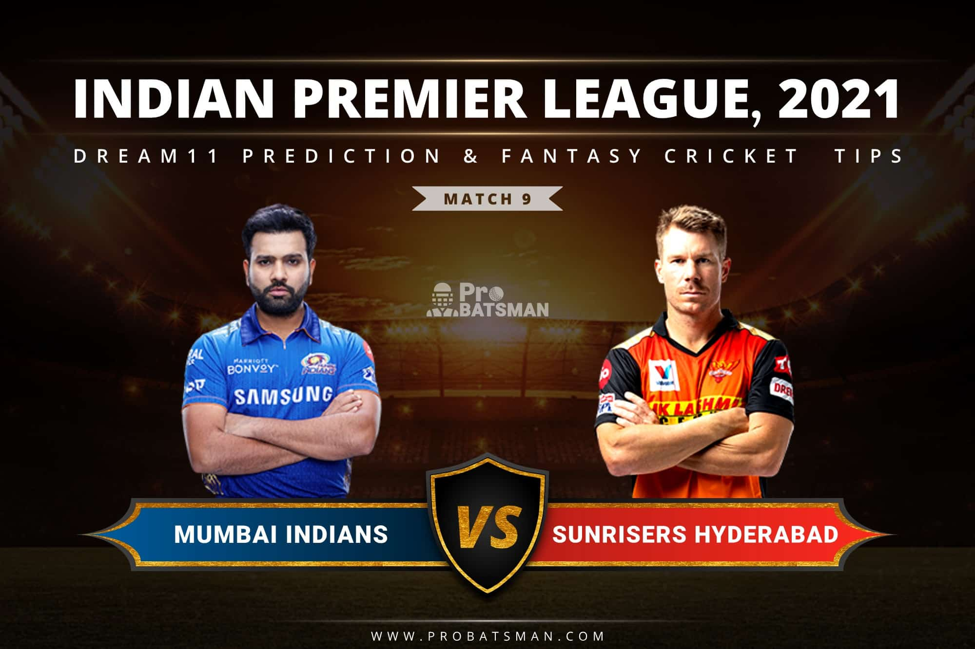 MI vs SRH Dream11 Prediction: Fantasy Cricket Tips, Playing XI, Pitch Report, Stats & Injury Updates of Match 9, IPL 2021