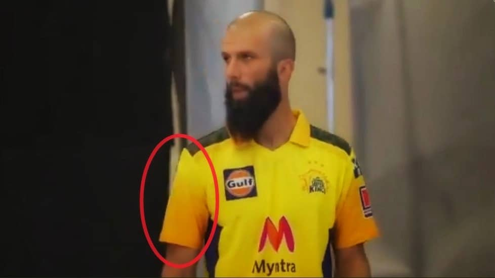IPL 2021: Moeen Ali Asks CSK to Remove Alcohol Brand Logo From His Jersey; Franchise Agrees