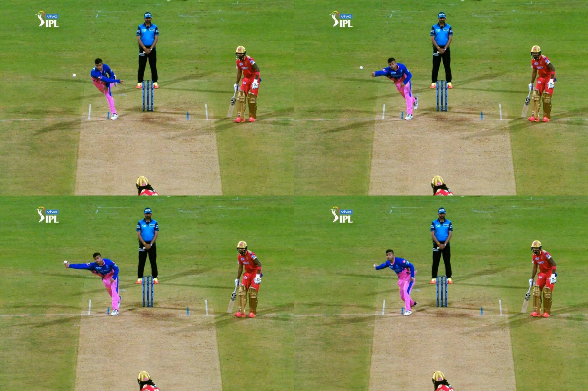 IPL 2021: Riyan Parag Bowls A Strange Side-Arm Delivery To Chris Gayle, Gets Warning From Umpire