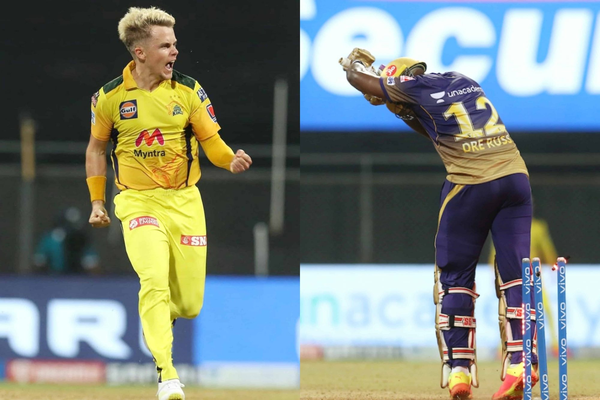 Watch: Sam Curran Clean Bowled Andre Russell In The Most Bizzare Way During KKR vs CSK
