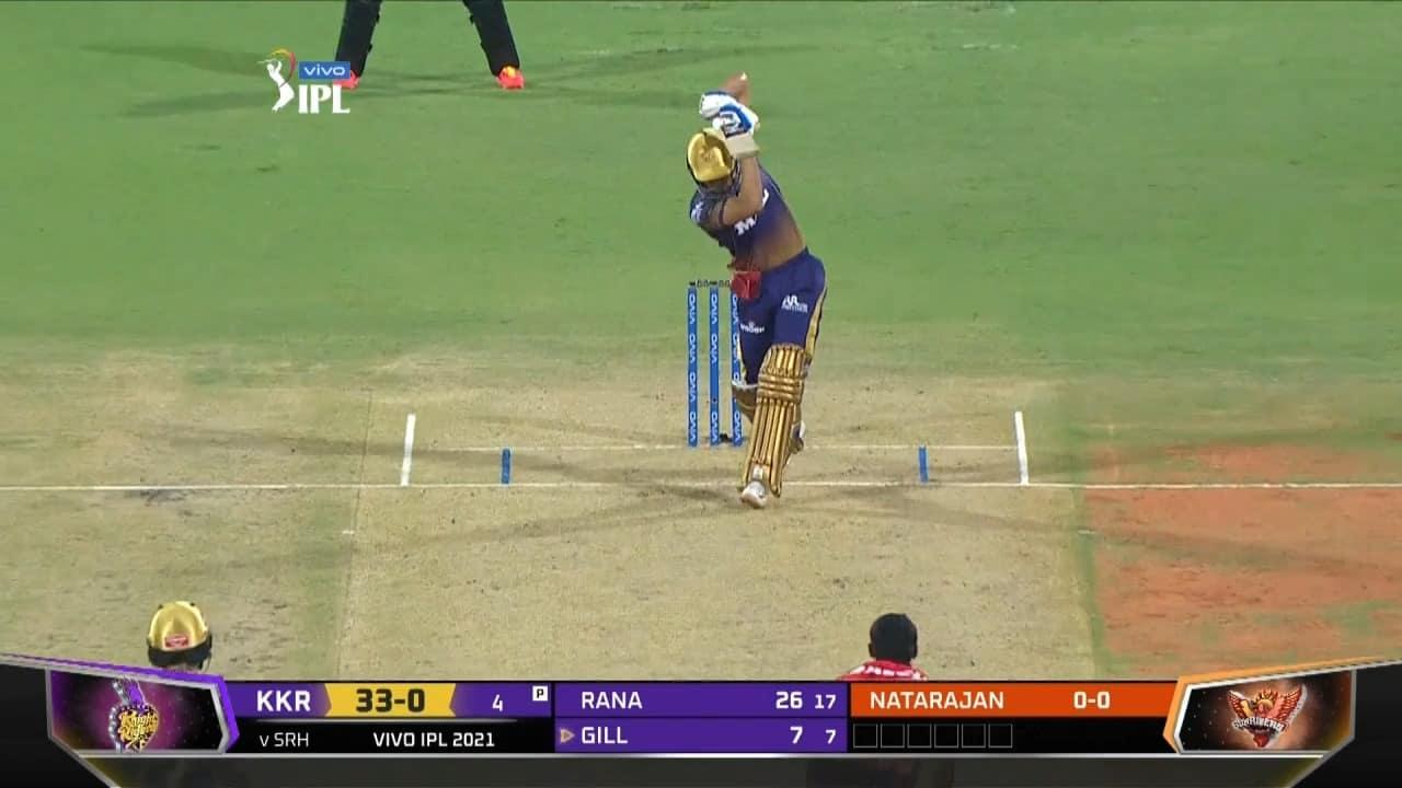IPL 2021 Watch: Shubman Gill Hits Classy No-Look Six To Welcome T Natarajan