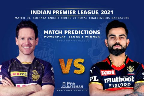 IPL 2021: KKR vs RCB – Match 30, Match Prediction – Who Will Win Today's Match?