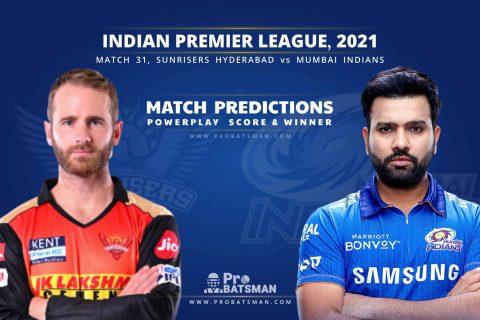 IPL 2021: SRH vs MI– Match 31, Match Prediction – Who Will Win Today's Match?