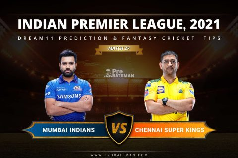 MI vs CSK Dream11 Prediction: Fantasy Cricket Tips, Playing XI, Pitch Report, Stats & Injury Updates of Match 27, IPL 2021