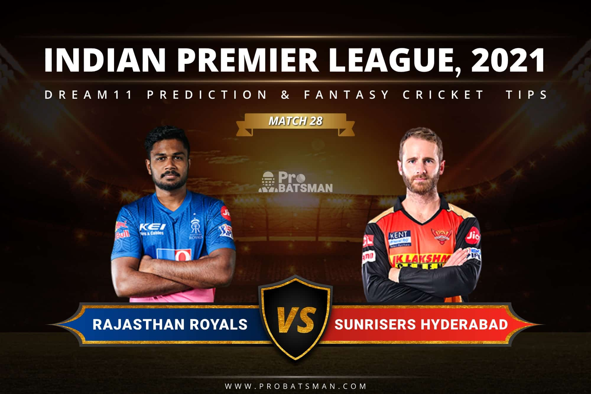 RR vs SRH Dream11 Prediction: Fantasy Cricket Tips, Playing XI, Pitch Report, Stats & Injury Updates of Match 28, IPL 2021