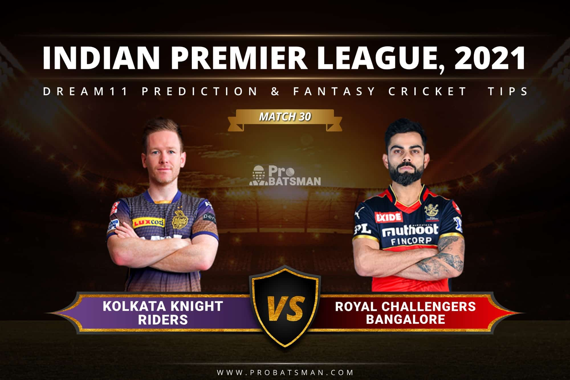 KKR vs RCB Dream11 Prediction: Fantasy Cricket Tips, Playing XI, Pitch Report, Stats & Injury Updates of Match 30, IPL 2021