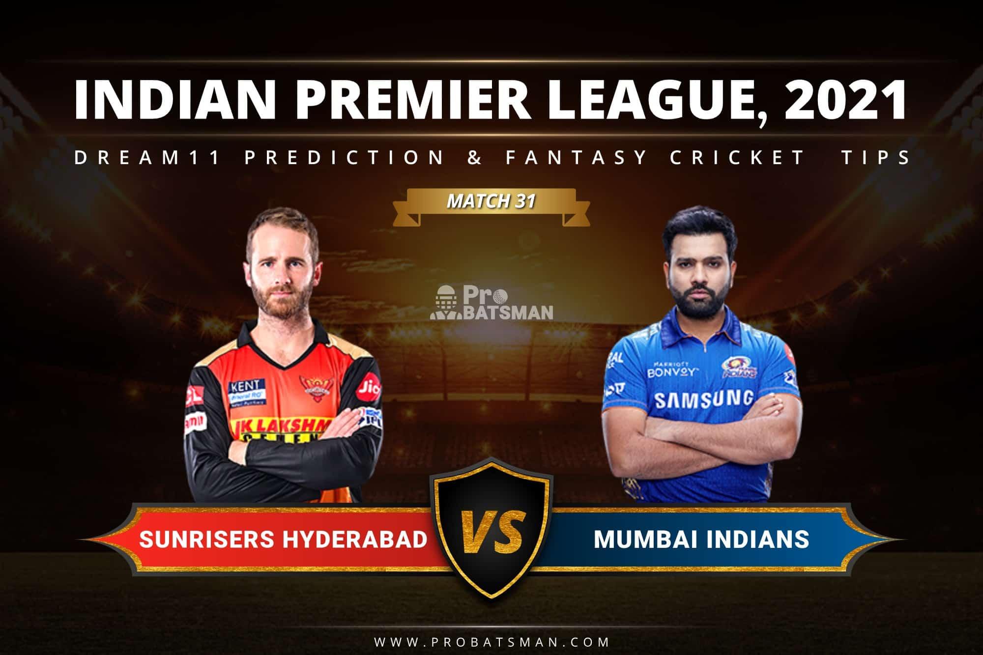 SRH vs MI Dream11 Prediction: Fantasy Cricket Tips, Playing XI, Pitch Report, Stats & Injury Updates of Match 31, IPL 2021