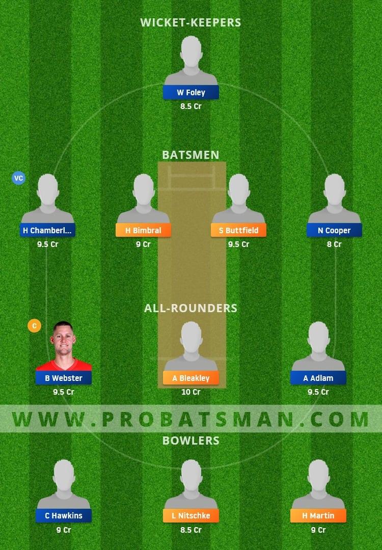 PCC vs DDC Dream11 Fantasy Team Prediction