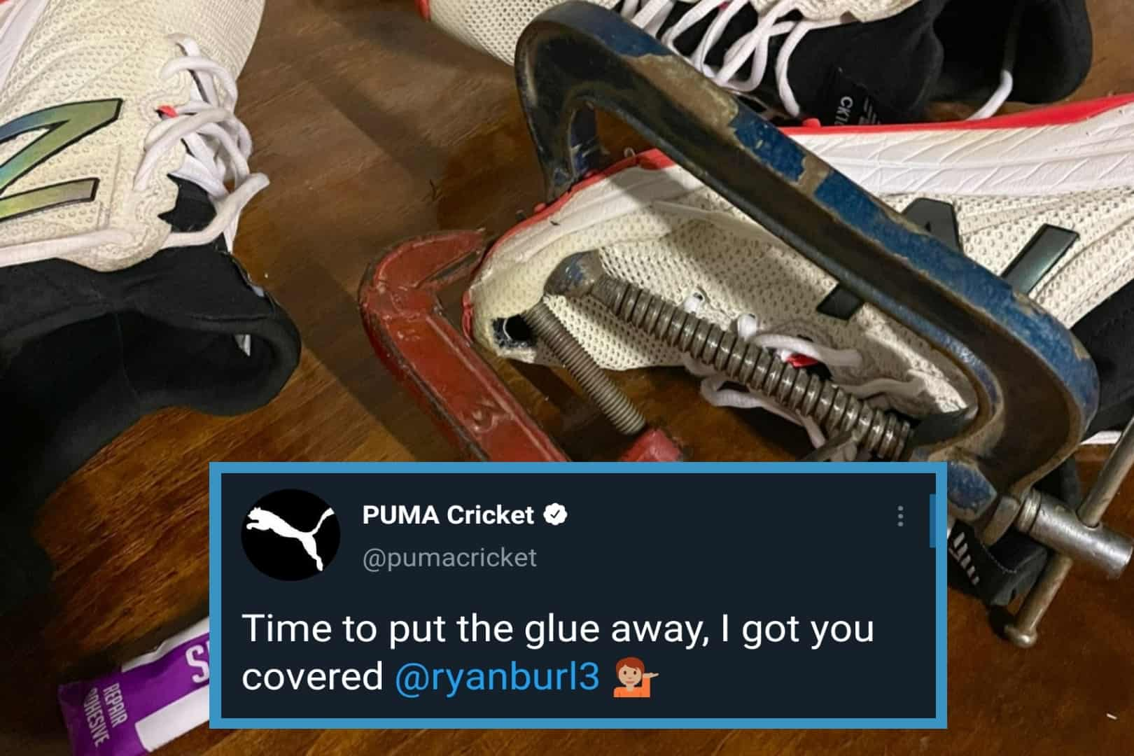 Puma Cricket Offers Support After Zimbabwe Cricketer Ryan Burl Posts An Image Of His Ripped Shoes