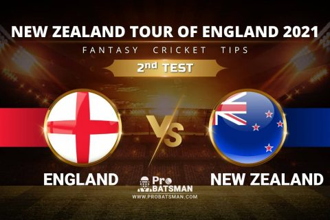 ENG vs NZ Dream11 Prediction, Fantasy Cricket Tips: Playing XI, Pitch Report & Player Record of New Zealand Tour of England 2021 For 2nd TEST