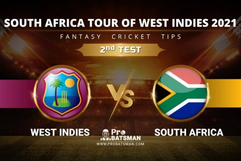 WI vs SA Dream11 Prediction, Fantasy Cricket Tips: Playing XI, Pitch Report & Player Record of New Zealand Tour of England 2021 For 2nd TEST