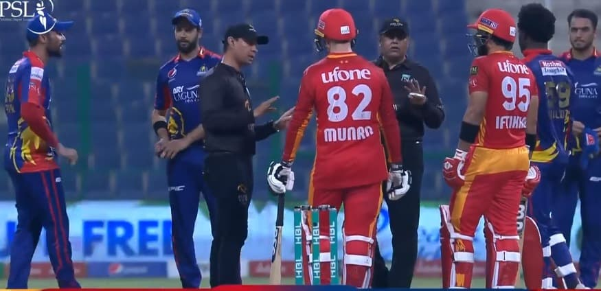 PSL 2021: Mohammad Amir And Iftikhar Ahmed Get Involved In A Heated Argument During KAR vs ISL