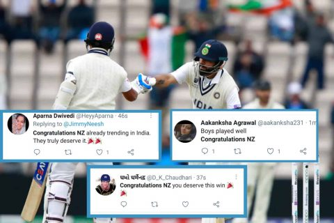 """WTC Final: Twitter Users Started Trending """"Congratulations New Zealand"""" Before Match Result"""