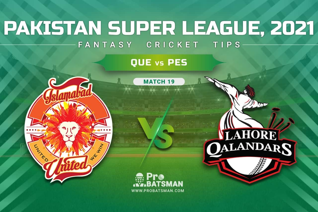 ISL vs LAH Dream11 Prediction, Fantasy Cricket Tips: Playing XI, Pitch Report & Player Record of Pakistan Super League (PSL) 2021 For Match 20