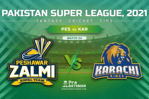 PES vs KAR Dream11 Prediction, Fantasy Cricket Tips: Playing XI, Pitch Report & Player Record of Pakistan Super League (PSL) 2021 For Match 24