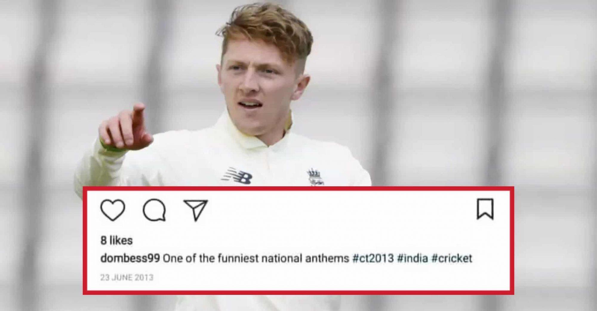 Dom Bess Mocked India's National Anthem; Post Goes Viral