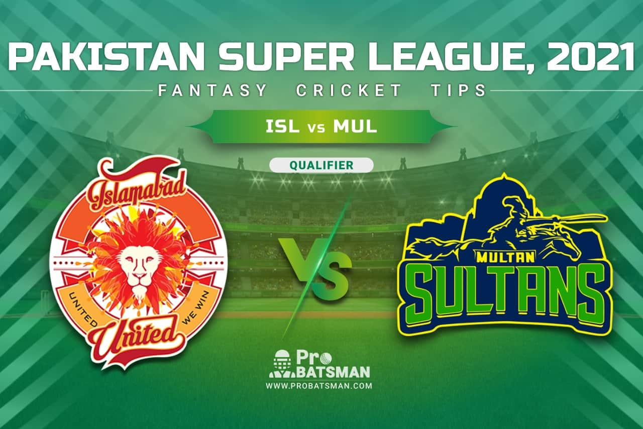 ISL vs MUL Dream11 Prediction, Fantasy Cricket Tips: Playing XI, Pitch Report & Player Record of Pakistan Super League (PSL) 2021 For Qualifier