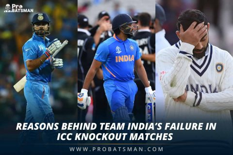 3 Reasons Behind Team India's Failure In ICC Knockout Matches