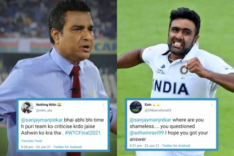 Sanjay Manjrekar Shredded Into 'Bits and Pieces' By Twitter After R Ashwin Becomes Highest Wicket Taker Of WTC