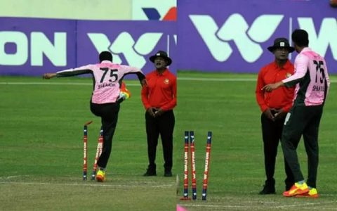Watch Video: Shakib Al Hasan Rips Out Stumps While Arguing With Umpire In The Middle Of Dhaka T20 Match