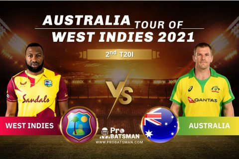 WI vs AUS Dream11 Prediction With Stats, Player Records, Pitch Report & Match Updates For 2nd T20I