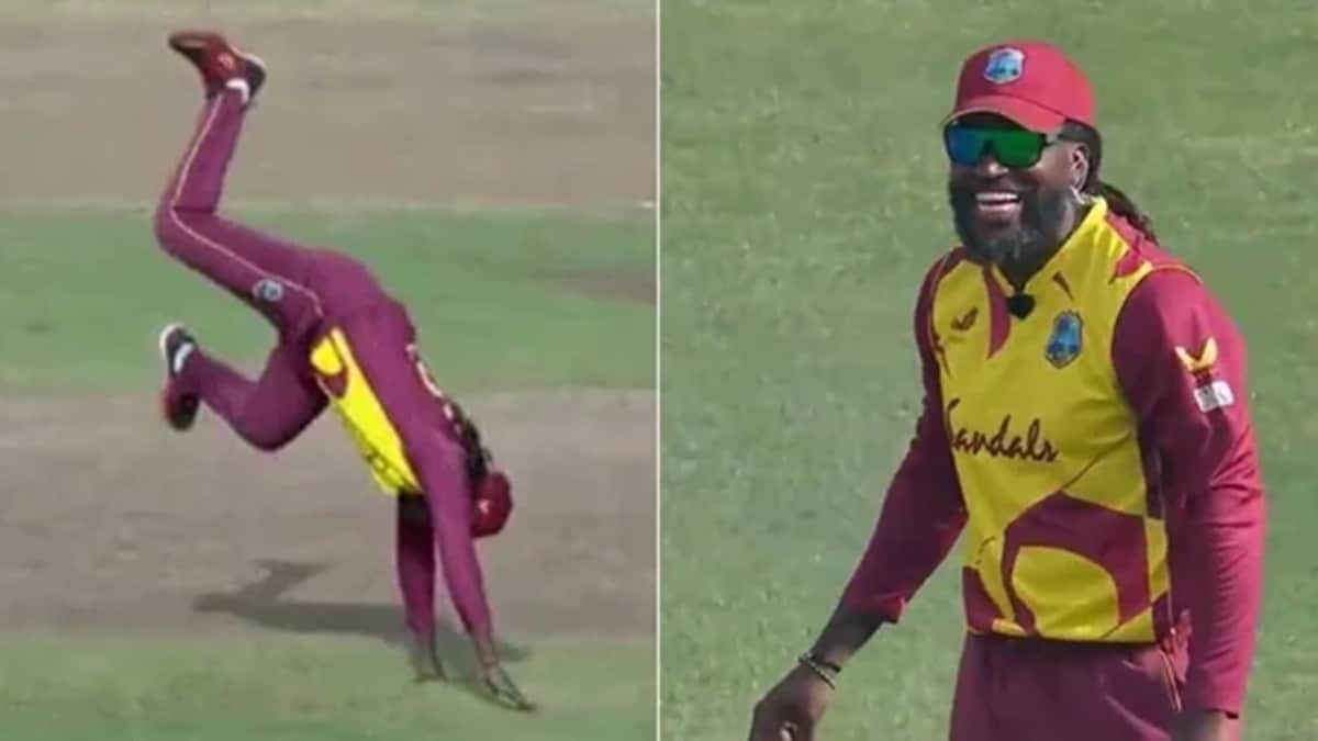 Chris Gayle Astonishes Everyone With his Unique Celebration Style in the 4th T20I Against South Africa