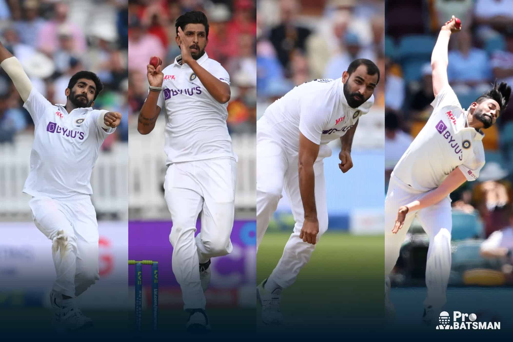ENG vs IND 20 Wickets Have Been Taken By the Pacers Jasprit Bumrah / Ishant Sharma / Mohammed Shami / Mohammed Siraj