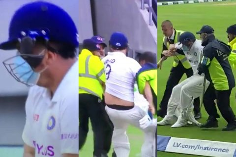 Pitch Invader 'Jarvo 69' Is Back Again, This Time As India's No.4 Batsman; Gets Dragged Off The Field