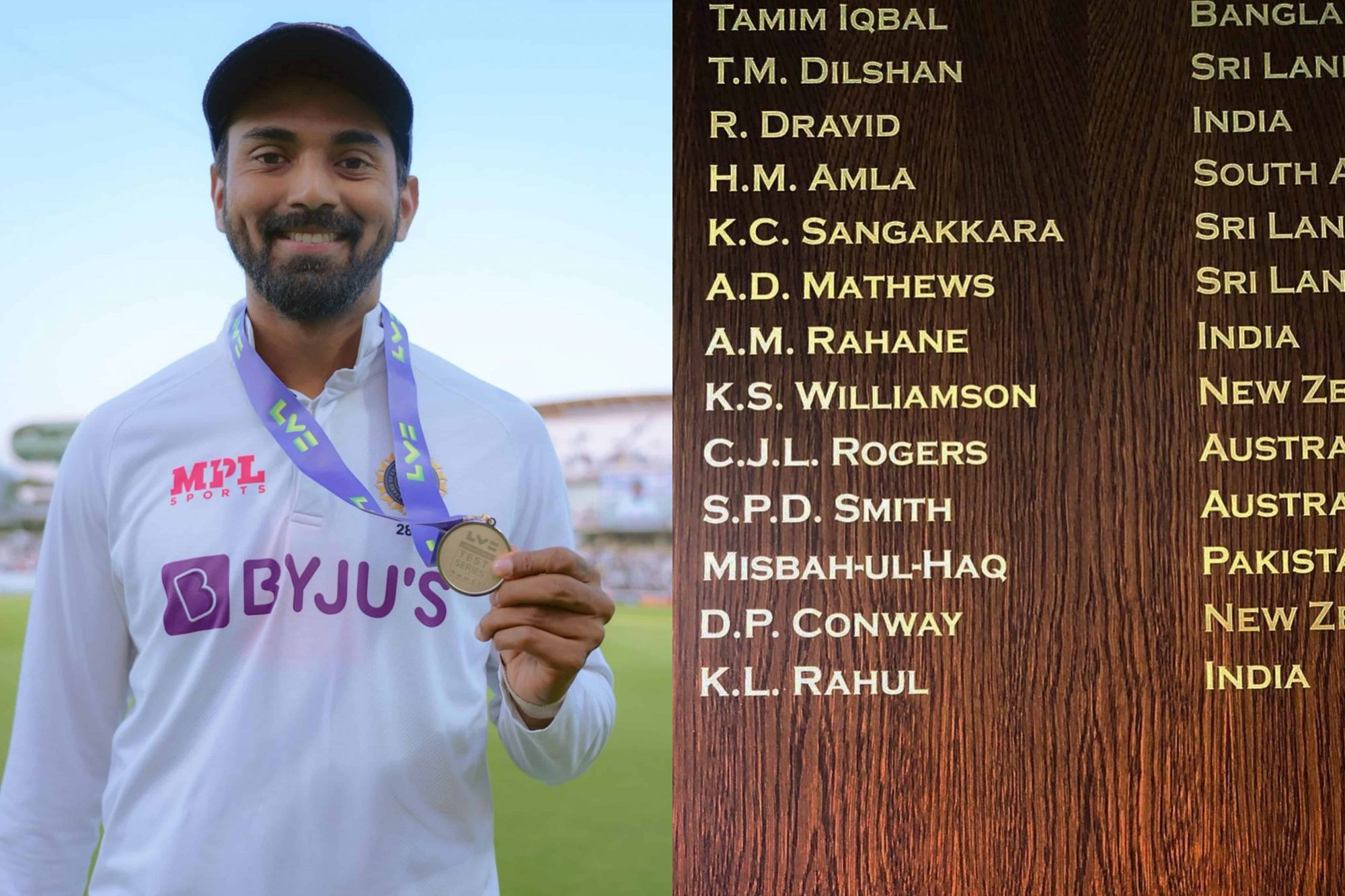 KL Rahul's Name Etched In Gold On The Lord's Honours Board