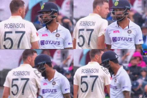 'Worst Behavior And Cunning Attitude' - Twitter Reacts As Ollie Robinson Barges Shoulder With KL Rahul