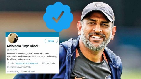 Twitter Removes Verification Badge From MS Dhoni's Account