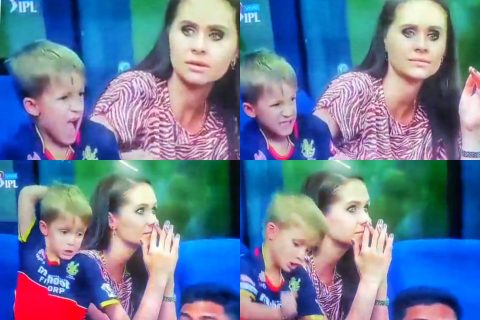 Watch: AB de Villiers' Son Punched The Front Seat With Disappointment After Former's Dismissal