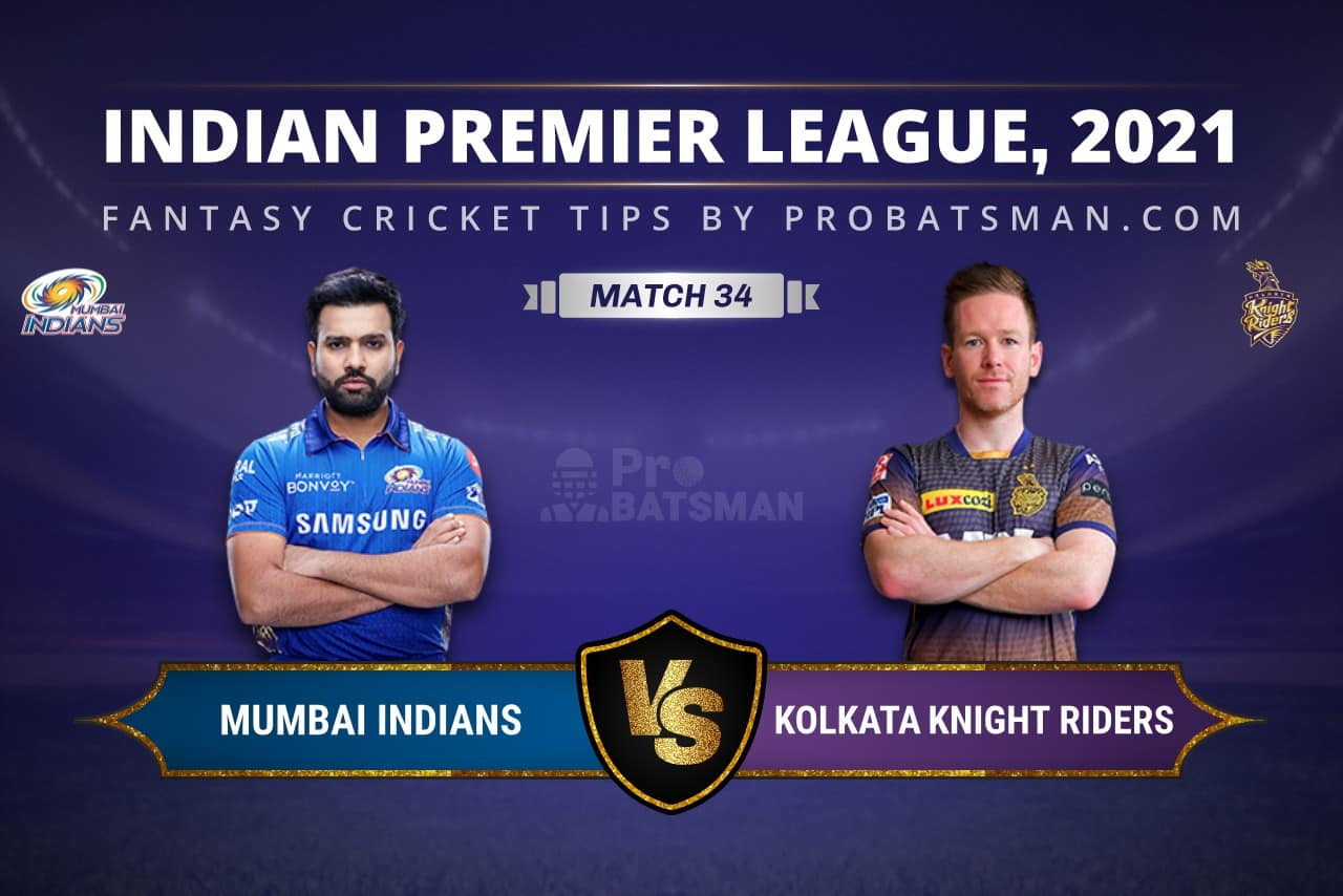 MI vs KKR Dream11 Prediction: Fantasy Cricket Tips, Playing XI, Pitch Report, Stats & Injury Updates of Match 34, IPL 2021