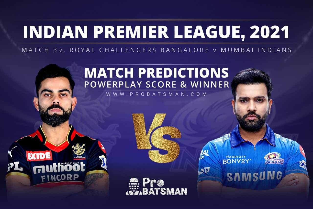 RCB vs MI Match Prediction Who Will Win Today's Match