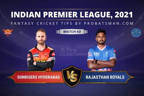 SRH vs RR Dream11 Prediction