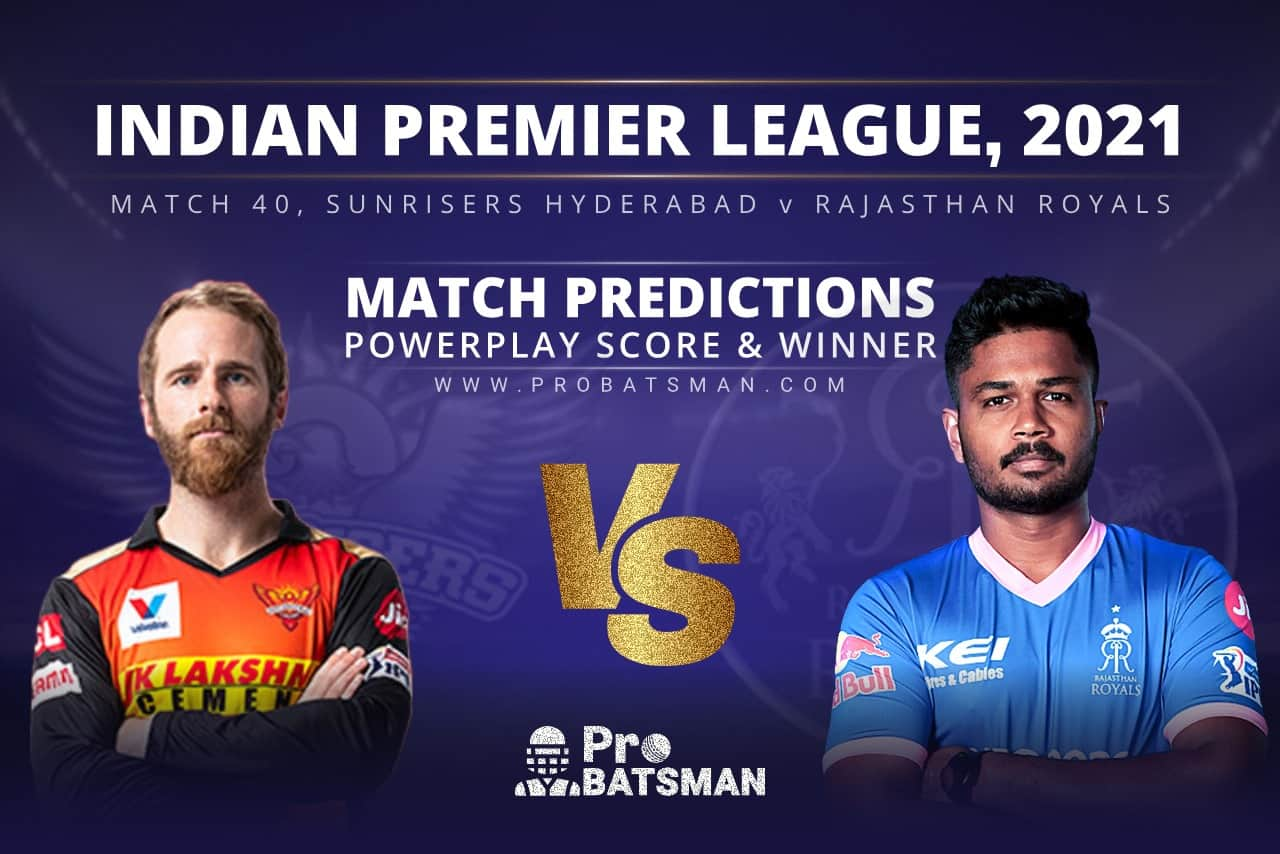 SRH vs RR Match Prediction Who Will Win Today's Match