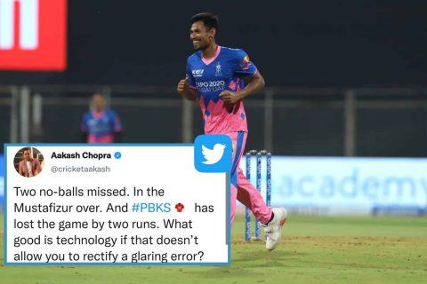 IPL 2021: Poor Umpiring -Twitterati Reacts As Umpire Ignores 2 No-Balls During PBKS vs RR