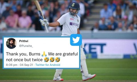"""Rohit Sharma Fans Started Trending """"Thank you Rory Burns"""" As Former Smashes His First Overseas Test Century"""