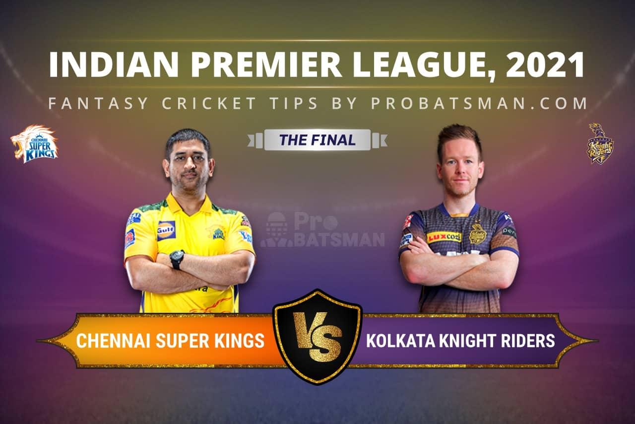 The Final, IPL 2021: CSK vs KKR Dream11 Prediction