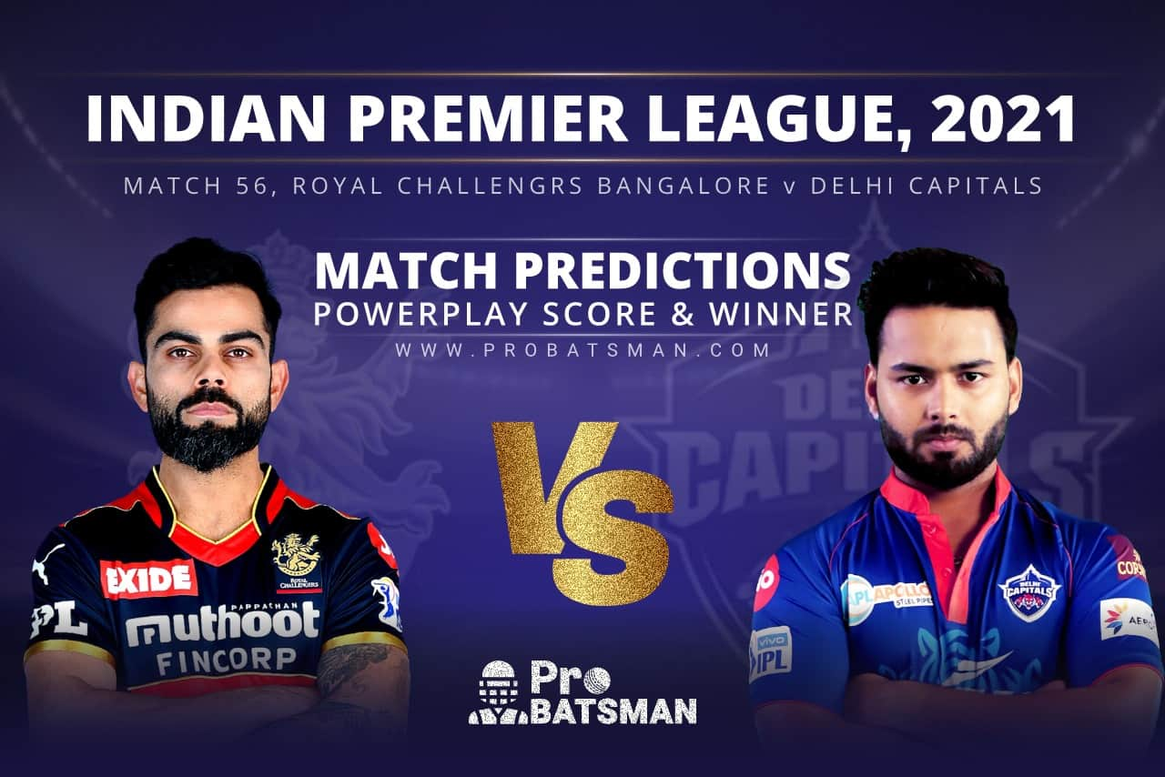 RCB vs DC Match Prediction Who Will Win Today's Match Match Prediction Who Will Win Today's Match