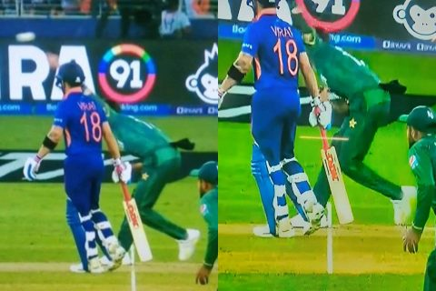 """""""How in the world is this not a no ball?"""" - Twitter Questioning KL Rahul's Dismissal Off No-Ball In India vs Pakistan Game"""