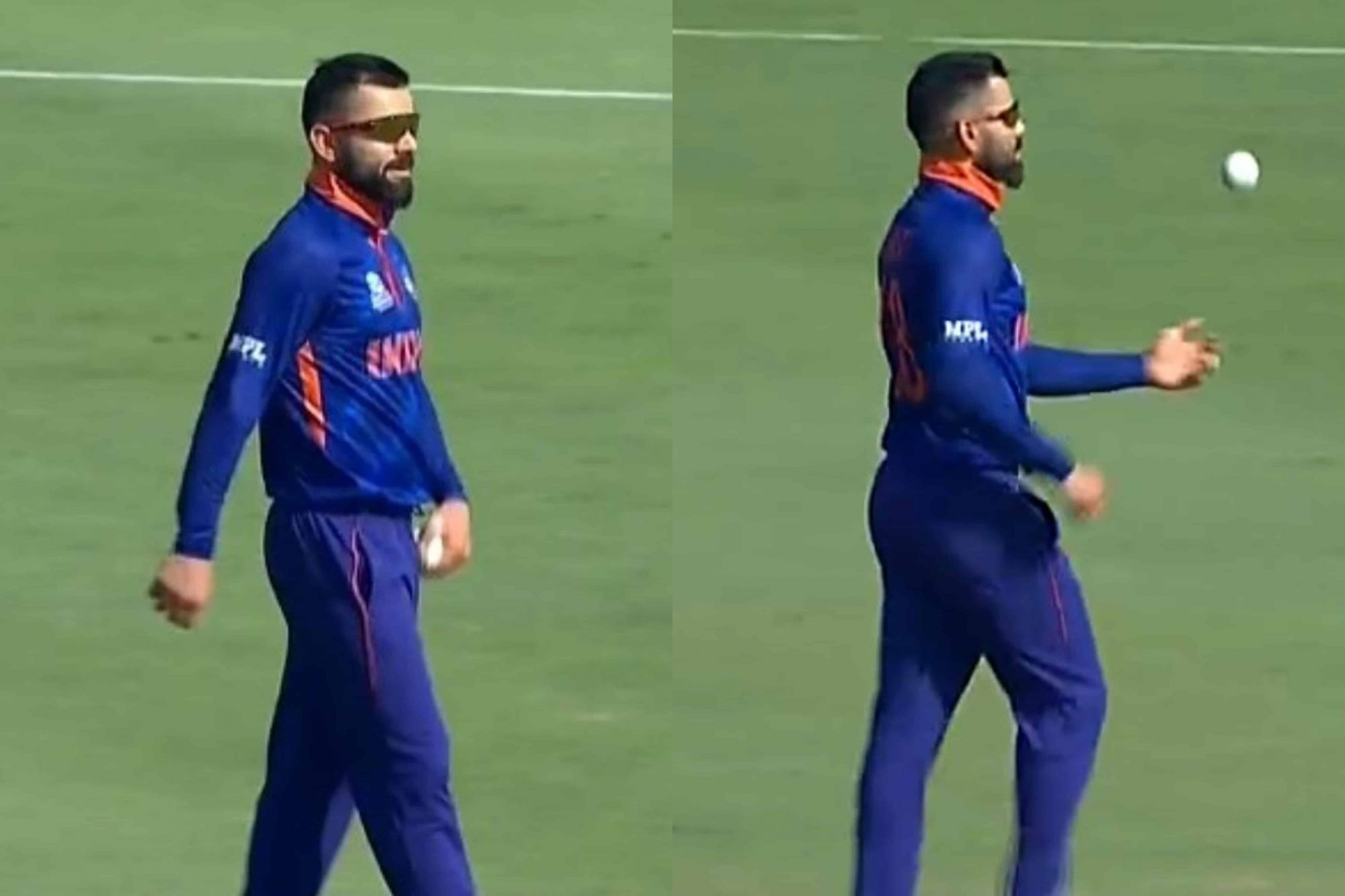 """Aj Bowling Tera Bhai Karega"" - Twitterati React As Virat Kohli Bowls Medium Pace Against Australia In Warm-Up Match"